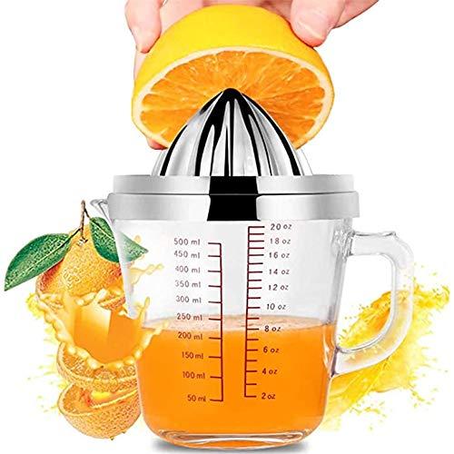Manual de Acero Inoxidable Exprimidor de Naranja Citrus Graduado exprimidor de cítricos con Antideslizante de la Cubierta para la Barbacoa del Partido de Picnic Camping Inicio