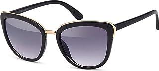 styleBREAKER - gafas de sol con forma de ojos de gato, forma de mariposa con montura de metal y plástico, ojos de gato, señora 09020078
