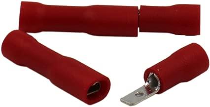 100 Stück Flachsteckhülse teilisoliert 2,8x0,5 rot Verbinder 0,05 EUR//Stück