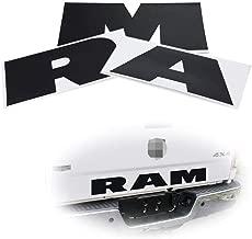 Black 3-Letter Matte Finish Thin Vinyl Lettering Decal Stickers For Dodge Ram 1500 2500 3500 Rear Trunk Tailgate