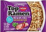 NISSIN TOP RAMEN PICANTE BEEF FLAVOR 3 oz Each ( 24 in a Pack ) by Nissin Top Ramen