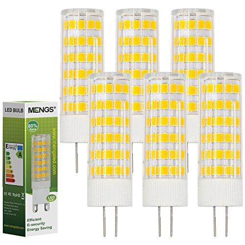 MENGS 6 Stück G4 LED Lampe 7W AC/DC 12V Warmweiß 3000K 75x2835 SMD Mit ACRYLIC und Keramik Mantel