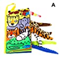 kelebin Soft Baby Cloth Books Cartoon Animal Touches and…