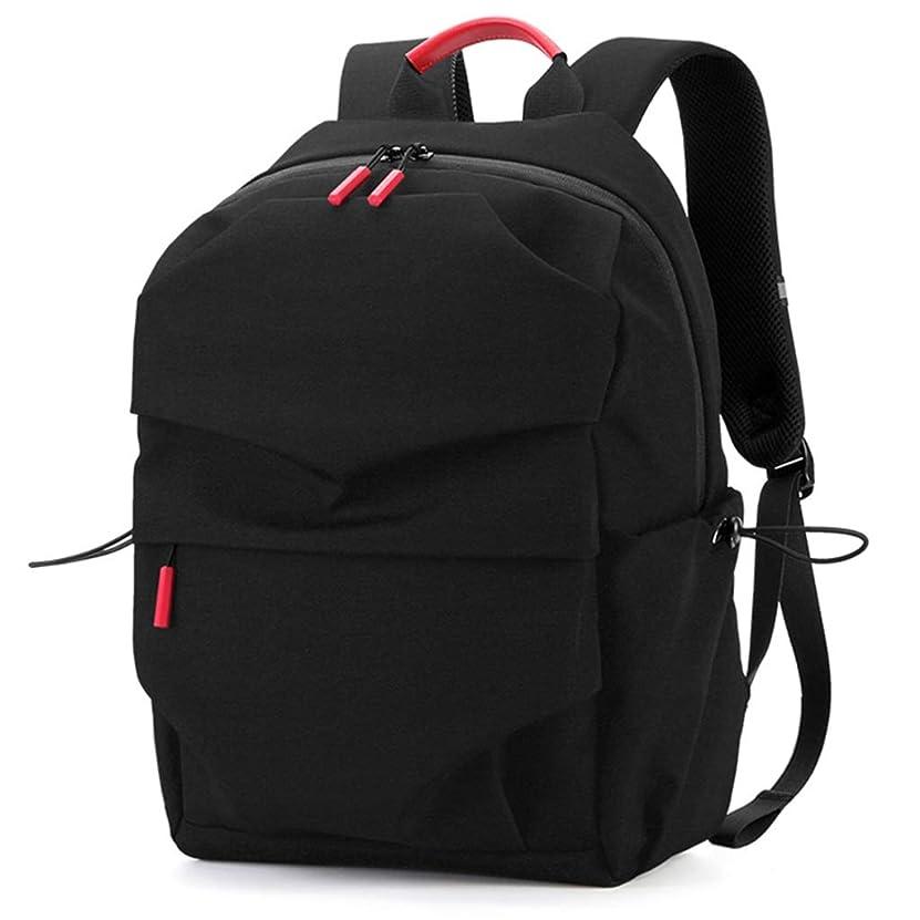 のみ昇進着る学生用バッグ、スクールバックパック、軽量かつポータブル、耐摩耗性防水、尾根を減らす、黒 LIUXIN