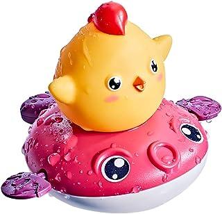 Dorakitten Bath Toy Wind up Cartoon Chicken Plastic Creative Duck Baby Bath Thermometer Water Spray Toy Bath Squirter ABS