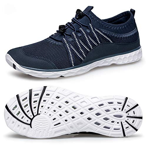 Alibress Men's Quick Dry Outdoor Water Shoes Lightweight Surf Water Shoes for Men Blue Navy White 8 M US