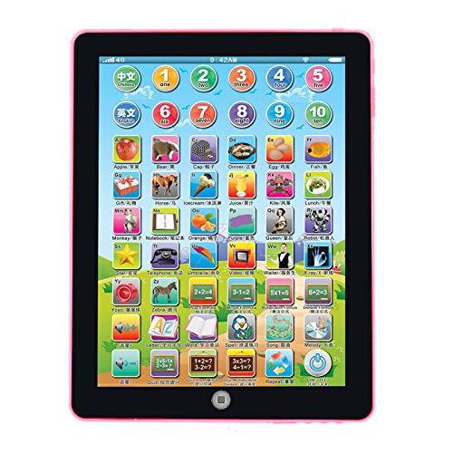 Jouets Enfants,Enfants Ordinateur Tablette Chinois Anglais Apprentissage Étude Machine Jouet Rose,Jouets Pour Enfants