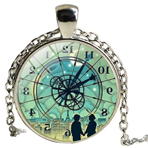 Libro Amantes Colgante Collar Collar Vintage Reloj Libros Colares Femininos Libro Quote Joyería Regalo para los amantes de los libros