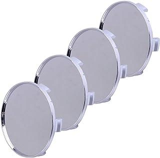 beler 4stk 68mm Silber Universal ABS Kunststoff Verchromt Kein Logo Auto Radnabenabdeckung Radnabe Kappen Abdeckungen