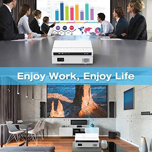 "TOPVISION Heimkino Beamer, 6500 Lumen Video Projektor with 80.000 Stunden Verlängert, Native 1080P LCD Beamer Full HD, 4K 300"" Heim/Berufsprojektor für Smartphone/PC/TV-Box/Laptop/PS4/PPT - 7"