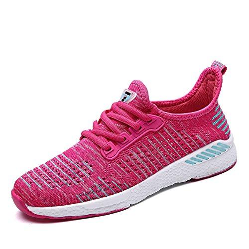 ZanYeing Unisex Bequem Schnürer Gym Fitness Atmungsaktives Mesh Turnschuhe Freizeitschuhe Ultra-Light Sportschuhe Laufschuhe,Pink,40 EU