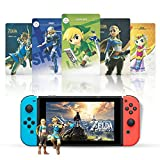 24Pcs NFC Tags Game Cards for The Legend of Zelda Breath of The Wild , [Newest Version] Compatible with Switch/Lite Wii U - with Cards Box