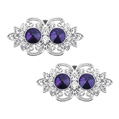 Duosheng & Elegant GD Diseño de ojos de búho Clips decorativos de...
