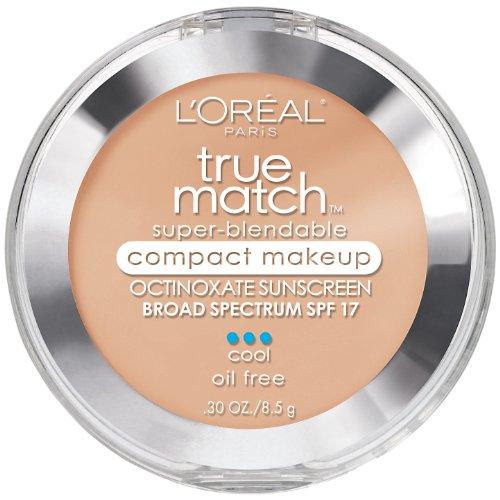 L'Oréal Paris True Match Super-Blendable Compact Makeup, N4 Buff Beige, 0.3 oz.