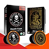 DEATH WISH Death Cups and VALHALLA JAVA Odinforce Blend Single-Serve Coffee Pods [10 each | 20 Count] The World's Strongest Coffee, Keurig-compatible/K-cup-like Capsules, USDA Certified Organic
