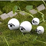 Gwill Nette Mini Cabochons Schafe Ziege Harz Figuren Handwerk DIY 30 Stücke Miniatur Tier Micro...