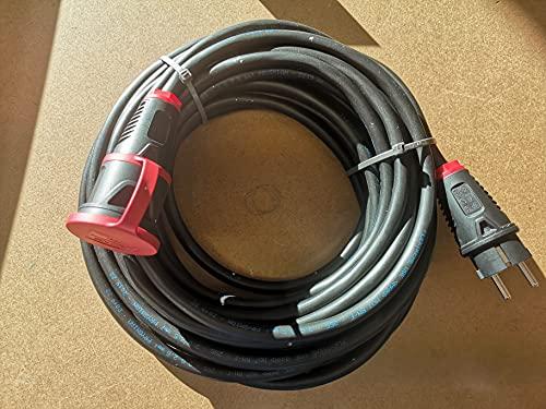 Cable alargador para cortacésped H07RN-F 3 x 2,5, a partir de 2 m hasta 50 m, cable de goma IP54, longitud: 2 m