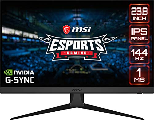 "MSI Optix G242 16:9 Aspect Ratio Anti-Glare Super Narrow Bezel 1ms 1920 x 1080 (FHD) 144Hz Refresh Rate Tilt Adjustment 24"" AMD Freesync IPS Gaming Monitor"