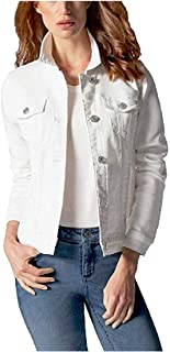 Ladies' Knit Denim Jacket (White - S)