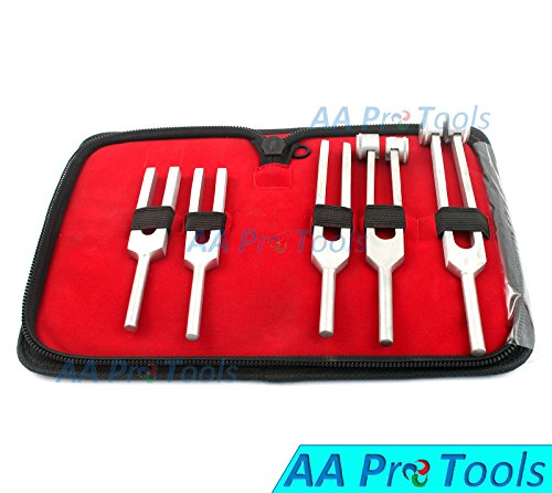 AAPROTOOLS NEW PREMIUM GRADE 5 TUNING FORKS SET CHIROPRACTIC PHYSICAL DIAGNOSTIC INSTRUMENTS A+ QUALITY
