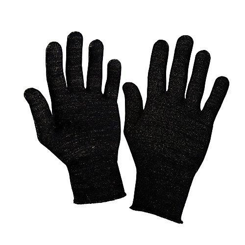 Full- Finger//X- Small, 8/% Silver//Grey Silver Fibre Warming Gloves Various Options
