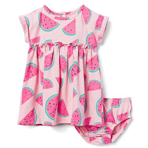 Gymboree Baby Girls 2-Piece Printed Dress Set, Petal Pink Melon, 6-12 mo