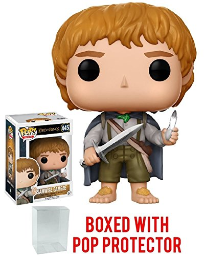 Funko Pop! Movies: The Lord of the Rings - Samwise Gamgee #445 Vinyl Figure (Bundled with Pop BOX PROTECTOR CASE)