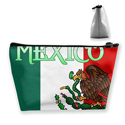Flag of Mexico Eagle Cargo Makeup Organizer, Toiletry Pouch, for Brushes, Pencil Case, Accessories