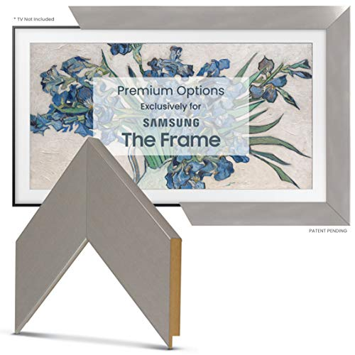 "Deco TV Frames - Brushed Stainless Frame Custom for Samsung The Frame TV (65"") Alaska"