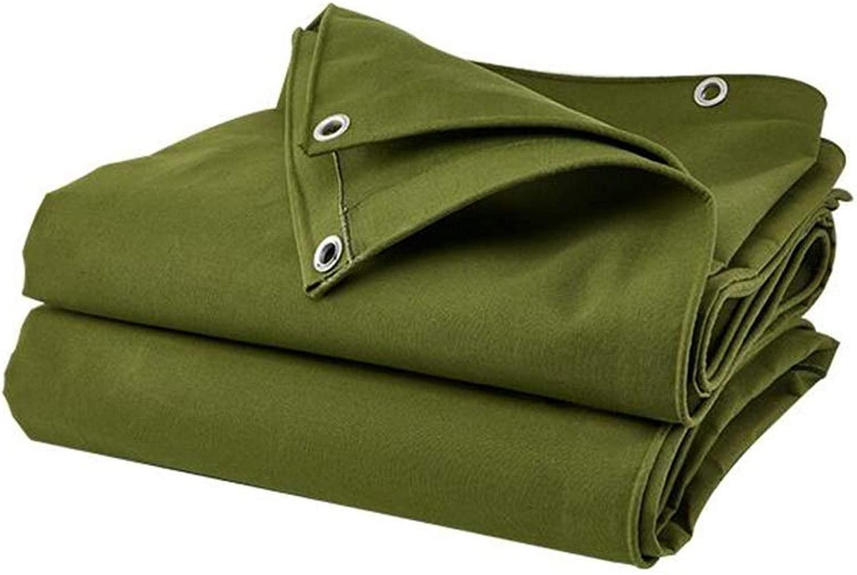 ZX タープ 防水 日焼け止めターポリン、 アウトドア 日よけ布、 ポンチョ キャンバス キャンプのテント テント アウトドア (Color : 緑, Size : 2x3m)