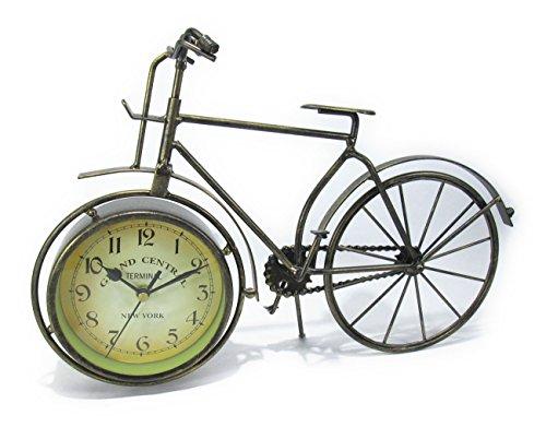 アンティーク 自転車 モチーフ オシャレな 置時計 アイアン製 レトロ風 インテリア 雑貨