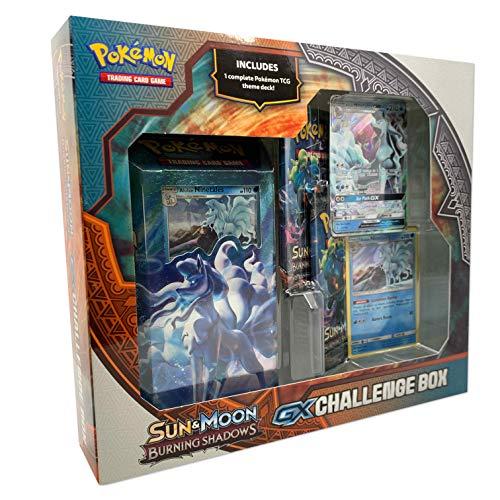 Pokemon Sun & Moon Burning Shadows GX Challenge Box- Assorted |1 Theme Deck | Featuring Lycanroc or Alolan Ninetales GX Card, Multicolor (820650806438)