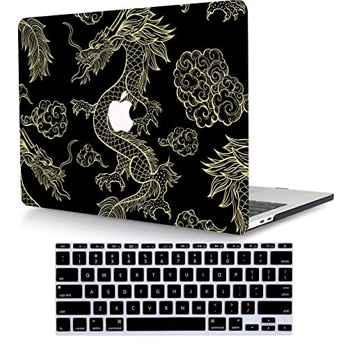 ACJYX Case Compatible with MacBook Pro Retina 13 inch Older Version 2015 2014 2013 end 2012 Release Model A1502 & A1425, Protective Plastic Hard Shell Case with Keyboard Cover, Animal Dragon