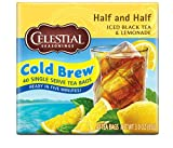 Celestial Seasonings Cold Brew Iced Tea, Half and Half Iced Black Tea and Lemonade, Contains Caffeine, 40 Tea Bags (Pack of 6)