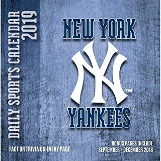 2019 NEW YORK YANKEES 365 Page-A-day DAILY CALENDAR/Desk Calendar