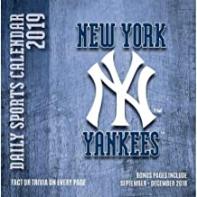 2019 NEW YORK YANKEES 365 Page-A-day DAILY CALENDAR/Desk Calendar