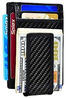Money Clip Leather Magnet RFID Blocking Wallet for Men Slim Front Pocket Wallet