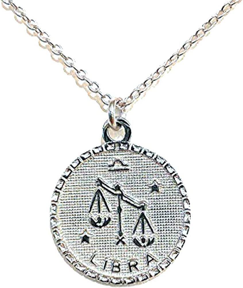 Sterling Silver Zodiac Pendant San Francisco Mall Ranking TOP16 Adjustable Necklace 16