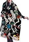 Irener Sciarpa coperta avvolgente scialle, Scarf Haunted House Zombie Womens Large Soft Cashmere Feel Shawls Wraps Light Stole
