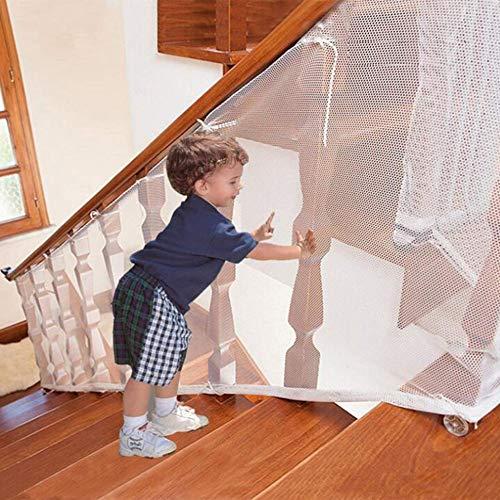 LIUNA Red De Seguridad para Niños, Red De Seguridad para Balcones para Bebés, Red De Seguridad para Balcones, Niños, Niños, Mascotas, Escaleras, Barandilla (Size:6.6ft x2.5 ft)
