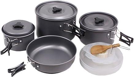 Zhhlaixing Zhhlaixing Zhhlaixing Camping Cookware Anodised Aluminium Kit for Outdoor B06XTZ7J7K | Rabatt  b470ec