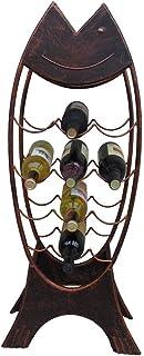 ZHTY Casier à vin 12 Bouteilles en métal |Support de Rangement à vin sur Pied pour Cuisine/Bar/pub |Rétro Support d'étag...