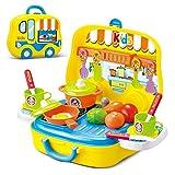 Dreamon Set Utensilios de Mini Cocina de Juguete Incluye Múltiples Accesorios para Niños de 3 Años de Edad