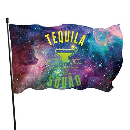 NotApplicable Blumen Flagge Tequila Squad Standard Feiertage Willkommen Gartenflagge Im Freien Yard Banner Holiday House Flagge Klassische Saison Lebendige Dekorative Bunte 150X90Cm