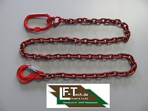 2m Forst- und Rückekette rund 10mm mit Ovalem Aufhängeglied und Schlupfhaken mit Falle 8m10