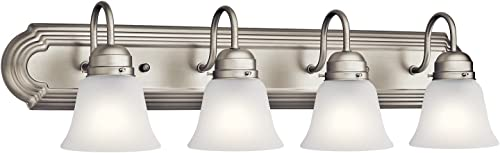 high quality Kichler Lighting 5338NIS Four discount Light Bath, Brushed discount Nickel outlet online sale