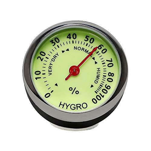 YFHBDJK Mecánica del Reloj del Cuarzo del Reloj del Coche termómetro higrómetro Luminoso for Automático Inicio Mini Coche decoración del Coche-Styling Adornos (Color Name : Hygrometer)
