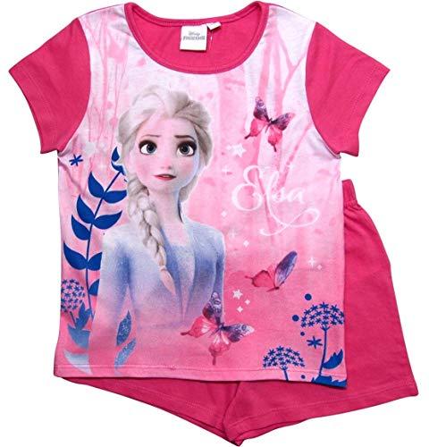 Frozen 2 Mädchen Die Eiskönigin Schlafanzug ELSA Pyjama (Fuchsia ELSA, 110-116)
