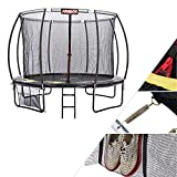 Arebos trampoline extérieur pour enfants et adultes | Trampoline de jardin Ø 366 cm | Filet de sécurité inclus | Capacité de charge 150 kg | Résistant aux intempéries