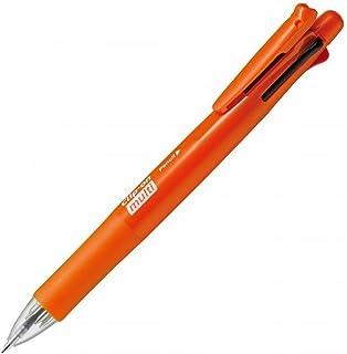 ゼブラ 多機能ペン 4色+シャープ クリップオンマルチF パワフルオレンジ PB4SA1POR